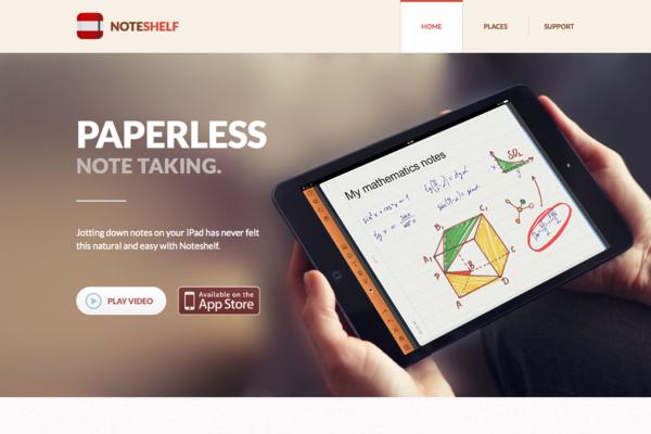 Noteshelf - 写,素描,注释,iPad应用,ipad App