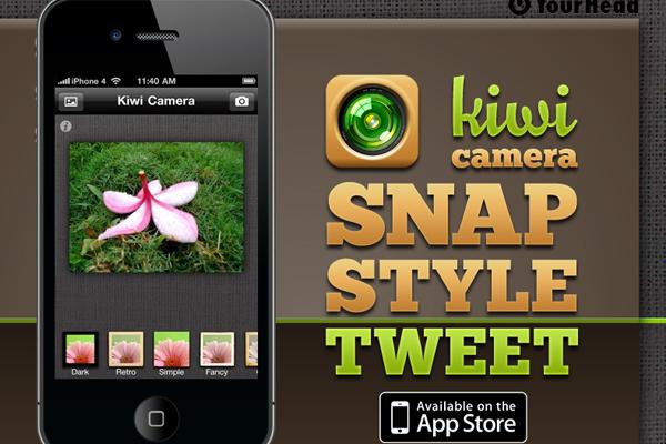 Kiwi Camera APP网站,App网站设计