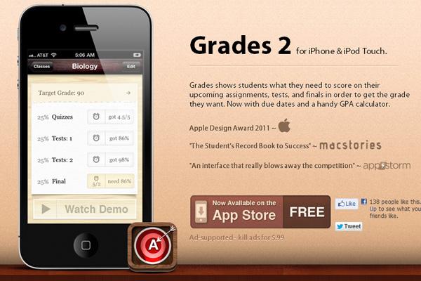 Grades iPhone教育APP酷站